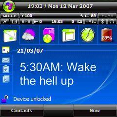 Phone alarm screen wake up