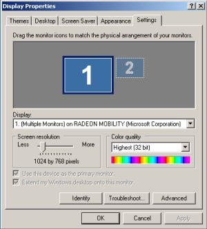 screen resolution change XP