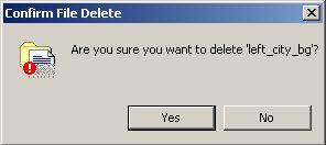 confirm a delete in windows XP