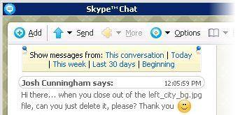 skype chat window