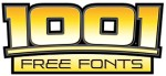 1001 free fonts dot com logo