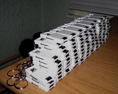 A bunch of USB thumb drives
