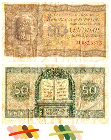 Foreign currency as design inspiration