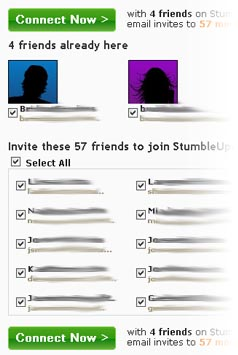 StumbleUpon invite process is bad usability