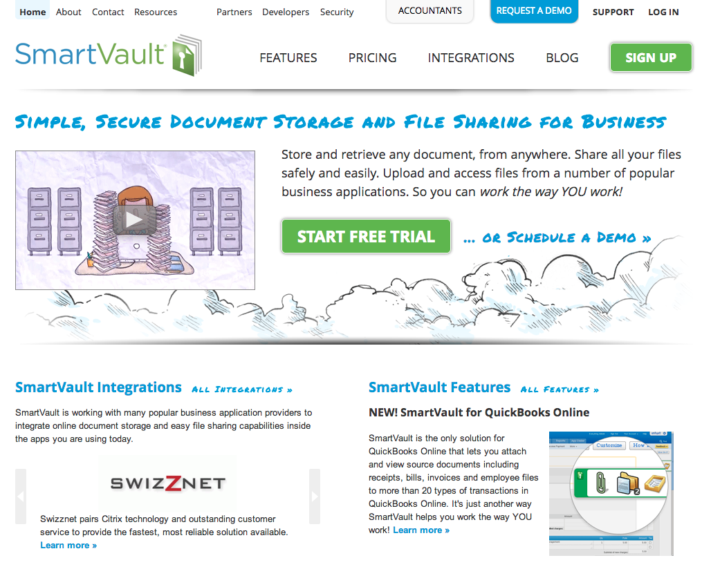 SmartVault WordPress site
