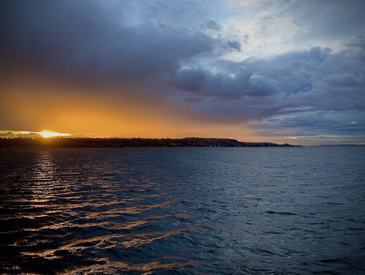 Sunset on Puget Sound